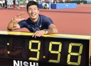 桐生祥秀選手9.98