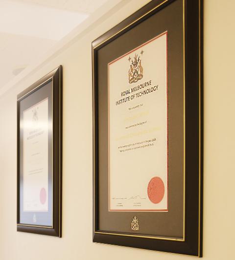 正規カイロプラクター学位取得の証明書